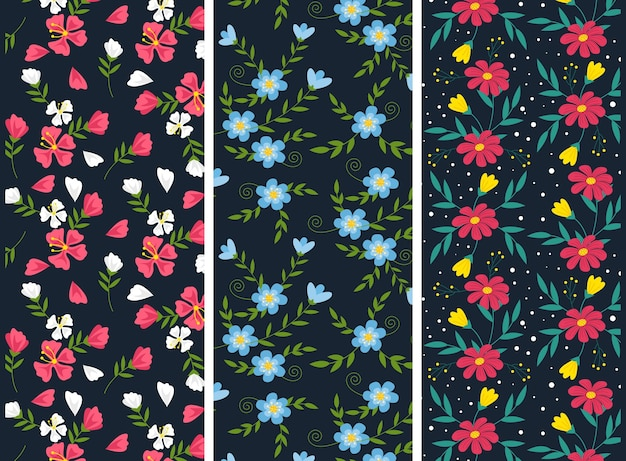 Collection de motifs de printemps