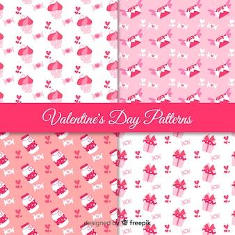 Collection de motifs roses pour la saint-valentin