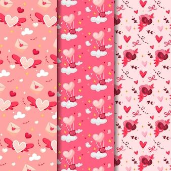 Collection de motifs de saint valentin dessinés à la main