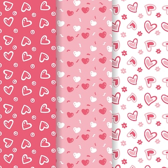 Collection de motifs de la saint-valentin mignonne