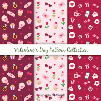 Collection de motifs saint-valentin
