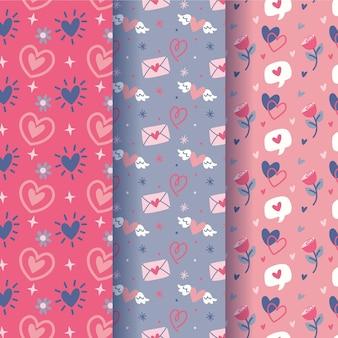 Collection de motifs de la saint-valentin
