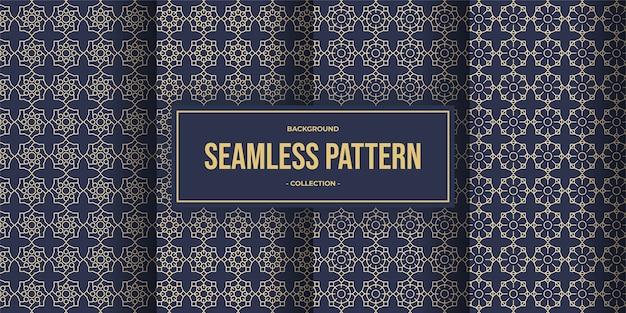 Collection de motifs sans soudure de lignes géométriques élégantes