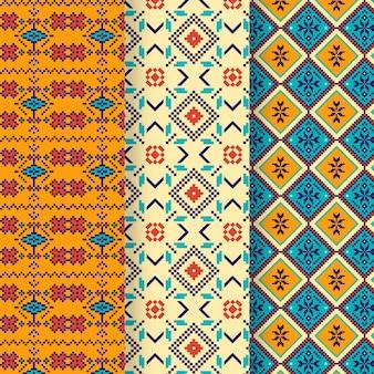 Collection de motifs songket