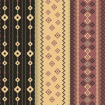 Collection de motifs songket