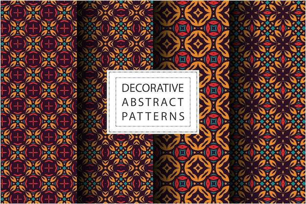 Collection de motifs avec un style ethnique
