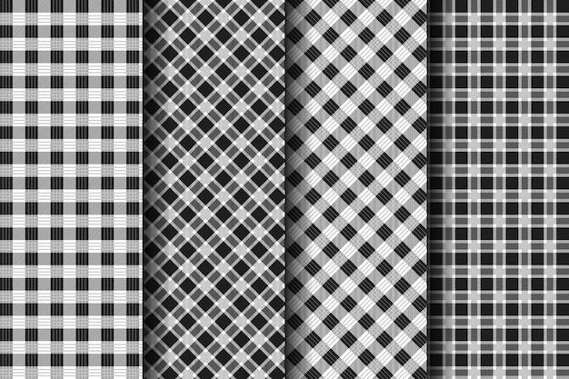 Collection de motifs de tartan à carreaux