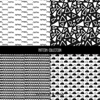 Collection de motifs de texture dessinés à la main