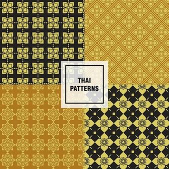 Collection de motifs thaïlandais