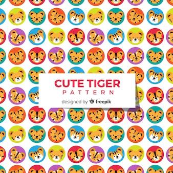 Collection de motifs de tigre
