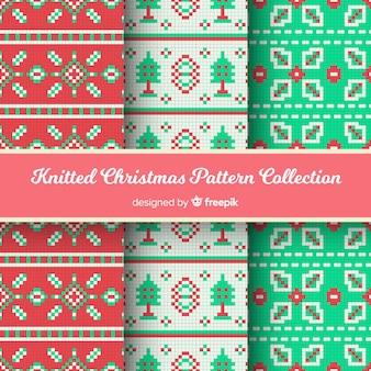 Collection de motifs tricotés de noël