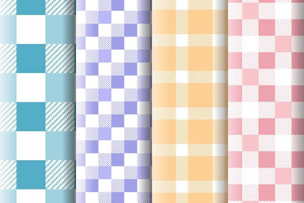 Collection de motifs vichy pastel