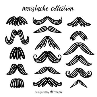 Collection de moustache originale dessinée à la main