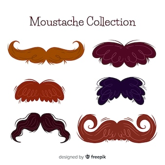 Collection de moustache originale dessinée à la main