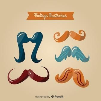Collection de moustaches vintage de sensibilisation movember