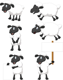 Collection de moutons mignons