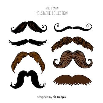 Collection movember de moustache dessinée à la main