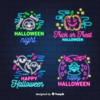 Collection de néon halloween