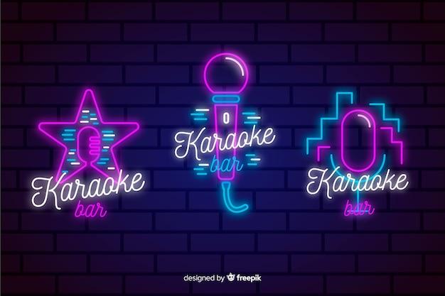 Collection de néons de karaoké