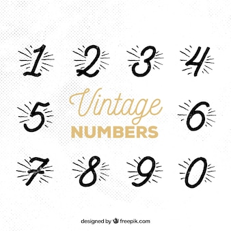 Collection de nombre vintage