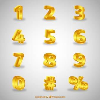 Collection de nombres 3d