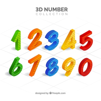 Collection de nombres 3d
