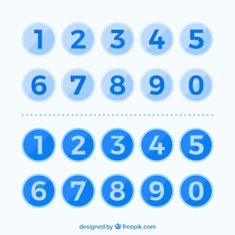 Collection de nombres colorés avec un design plat