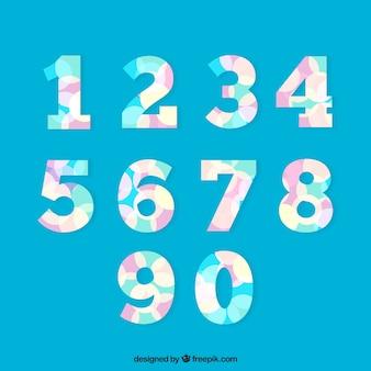 Collection de nombres modernes colorés