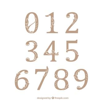 Collection de nombres rétro