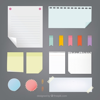 Collection de notes de papier