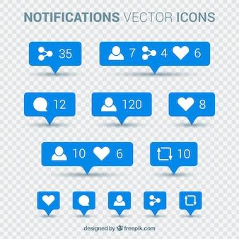 Collection de notifications instagram