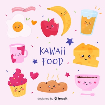 Collection de nourriture kawaii