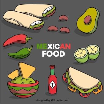Collection de nourriture mexicaine