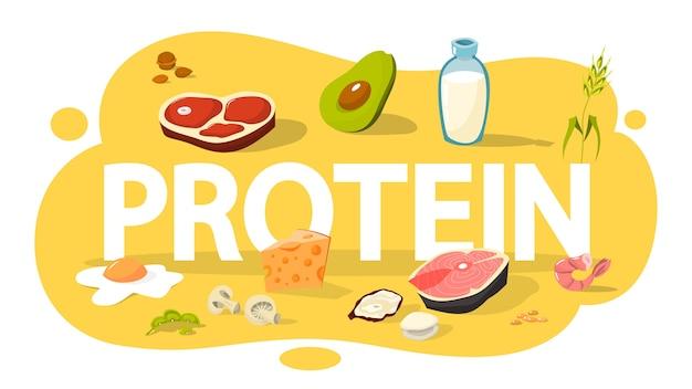 Collection de nourriture pleine de protéines. fromage