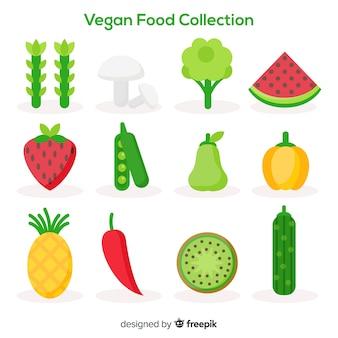 Collection de nourriture végétalienne
