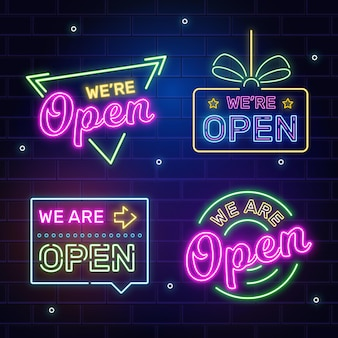 Collection de nous sommes des signes ouverts
