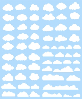 Collection de nuages ​​blancs