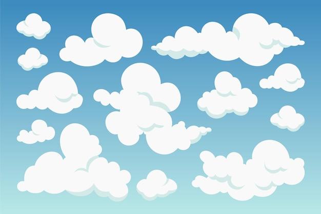 Collection de nuages de dessin animé