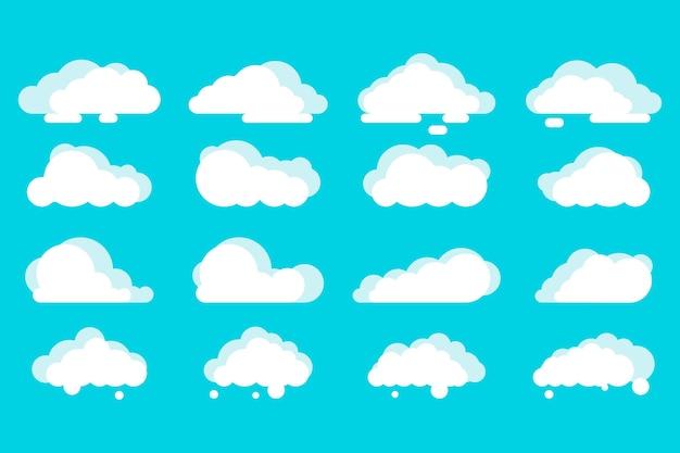 Collection de nuages plats