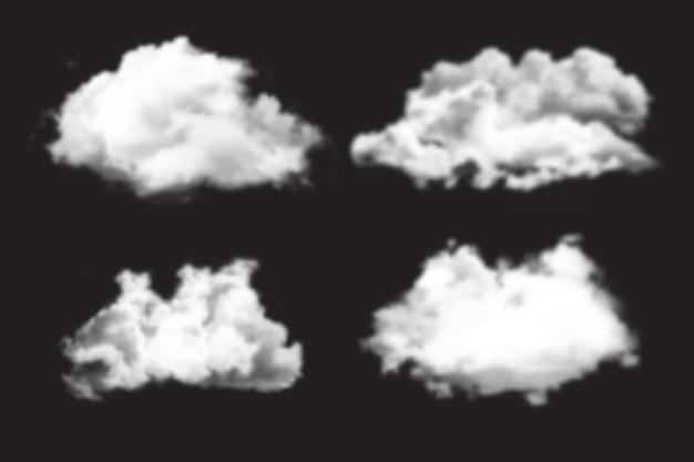 Collection de nuages réalistes