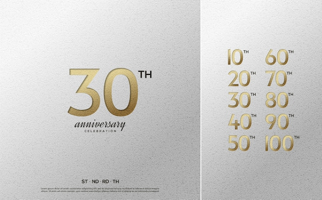 collection de numéros de célébration