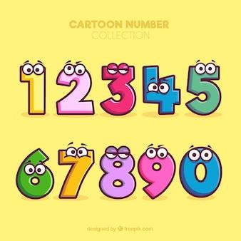 Collection de numéros de dessin animé avec des personnages