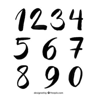 Collection de numéros d'encre