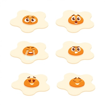 Collection d'oeufs au plat emoji