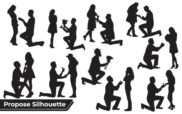 Collection of couple propose des silhouettes dans différentes poses