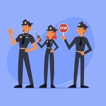 Collection d'officiers de police