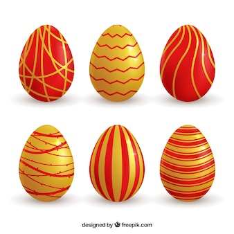 Collection d'or easter egg rouge et