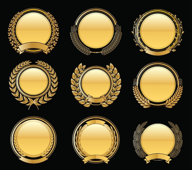 Collection d'or de luxe laurel wreath wreath