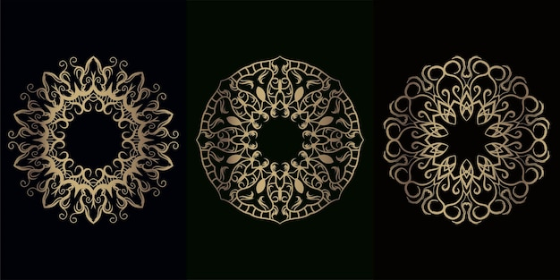 Collection d'ornement ou de fleur de mandala