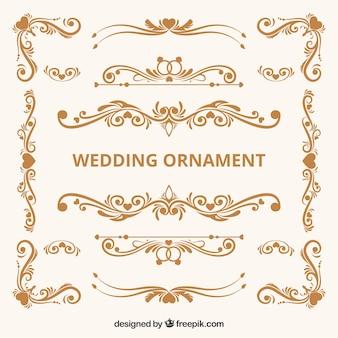 Collection d'ornement de mariage vintage